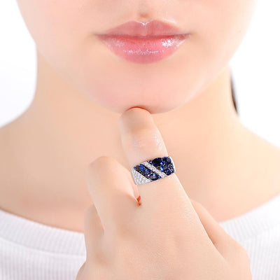Sterling Silver Cubic Zirconia Ring for Women - Exinoz