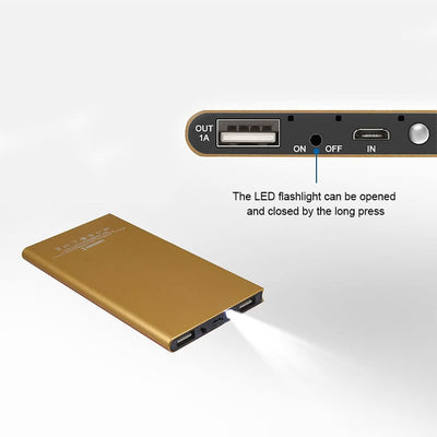 Ultra-thin Dual-USB PowerBank 20000 mAh