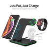 3 in 1 Wireless Charger Station 15W Fast Charging Dock - Exinoz