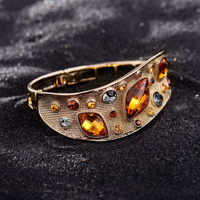 Vintage Coffee Gold Bangles