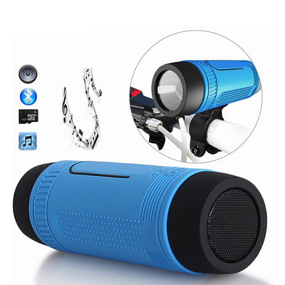 Waterproof Bluetooth Speaker with LED Flashlight