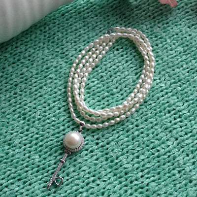 Long Multilayer Freshwater Pearl Necklace - Exinoz