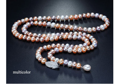 Genuine Freshwater Pearl Long Necklace - Exinoz