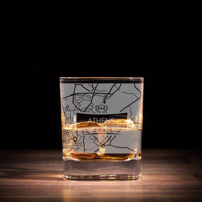 ETCHED CITY MAP GLASSES ( Set of Two )