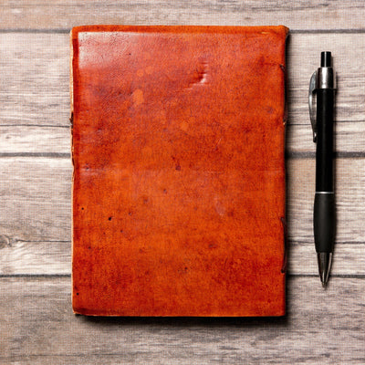 """If A Story"" Handmade Leather Journal"