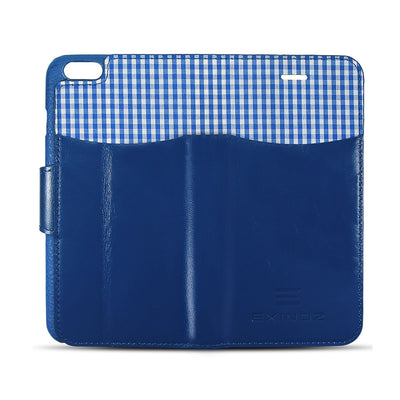 iPhone 6 / iPhone 6S Leather Wallet Case [BLUE] - Exinoz