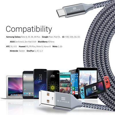 Exinoz USB Type C Cable Fast Charging USB C Cable (Bonus Special Offer) - Exinoz