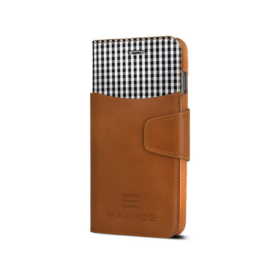 iPhone 6 / iPhone 6S Leather Wallet Case [BROWN] - Exinoz