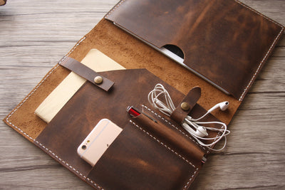Genuine Leather Laptop & MacBook Sleeve Case - Exinoz
