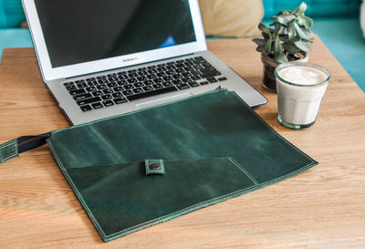 Personalized Leather Portfolio Folder