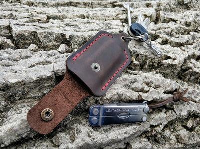 Leather Sheath Keychain for Leatherman Squirt PS4 or Micra - Exinoz