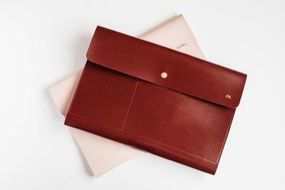 Vegan Leather iPad Pro Case Purse Organizer (Handmade) - Exinoz