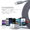 Exinoz USB Type C Cable Fast Charging USB C Cable - 10 Pack