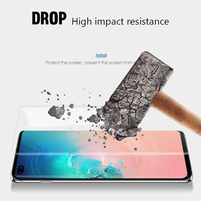 Exinoz 9D Full Cover Screen Protector Set For Samsung Galaxy S10 S10E S10 Plus - Exinoz