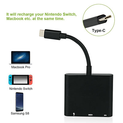 Nintendo Switch Type C to 4K 1080 HDMI Cable Adapter - Exinoz
