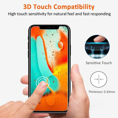 Premium Ultra-Thin Tempered Glass Screen Protector for iPhone X / XS / XS MAX / XR (2 Pack) - Exinoz