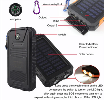 Waterproof Solar PowerBank - Exinoz