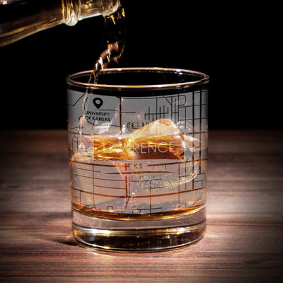 ETCHED CITY MAP GLASSES (Set of Two)