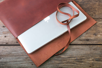 EXINOZ Handmade Leather Laptop Sleeve - Exinoz