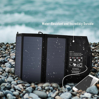 Portable Foldable 20W 5V Solar Panel Travel Charger - Exinoz
