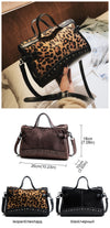 EXINOZ Leopard Handbag For Women