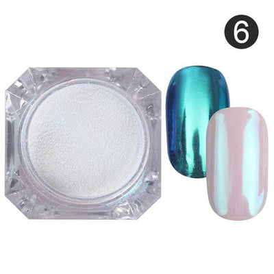 DIY MAGIC MIRROR NAIL Exinoz Color 6