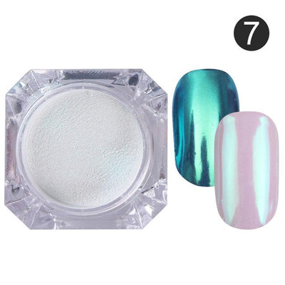 DIY MAGIC MIRROR NAIL Exinoz Color 7