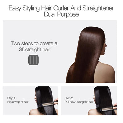 2 in 1 Curler and Hair Straigthener