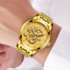 Luxury Gold Dragon Sculpture Quartz Watch For Men - Exinoz