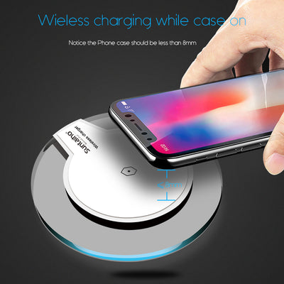 Wireless Quick Charging Pad For Samsung Galaxy S8/S8 Plus/iPhone 8 / 8 Plus / X - Exinoz