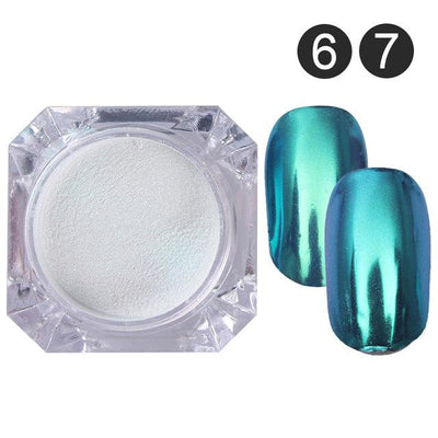 DIY MAGIC MIRROR NAIL Exinoz Set 5