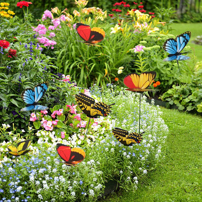 25Pcs Double Layer Butterfly On Sticks - Exinoz