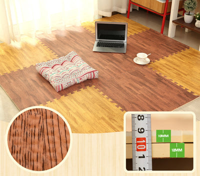 Hardwood Floor Interlocking Foam Tiles - Exinoz