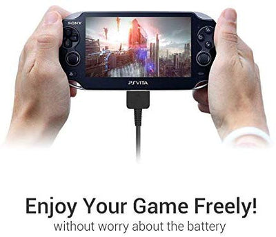 EXINOZ Playstation PS Vita Charger 1.2m | USB Data Transfer and Sync Power Charger | High-Quality Cable with 1-Year Replacement Warranty - Exinoz