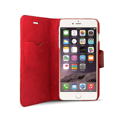 iPhone 6 / iPhone 6S Leather Wallet Case [RED] - Exinoz