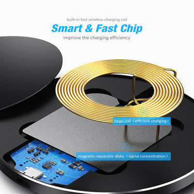 QI Wireless Fast Charger Cordless Charging Pad - Exinoz