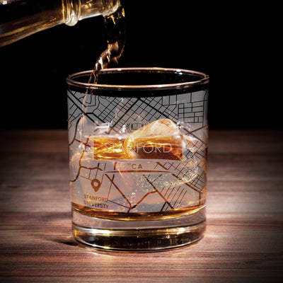 ETCHED CITY MAP GLASSES (Set of Two) - Exinoz