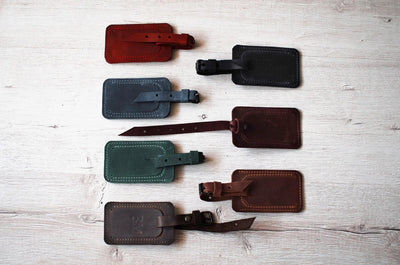Luggage Tags in Genuine Leather (Pack of 2) - Exinoz