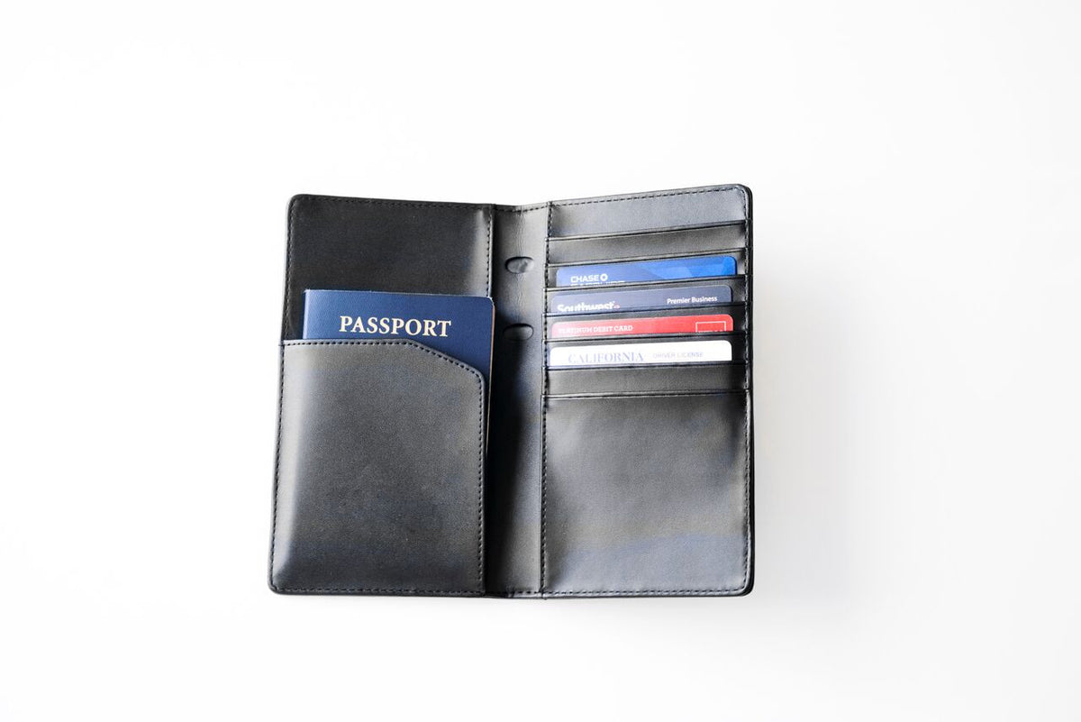 Exinoz RFID Passport Wallet Featuring State of the Art RFID Blocking Technology | Made of Genuine Leather and Built to Last