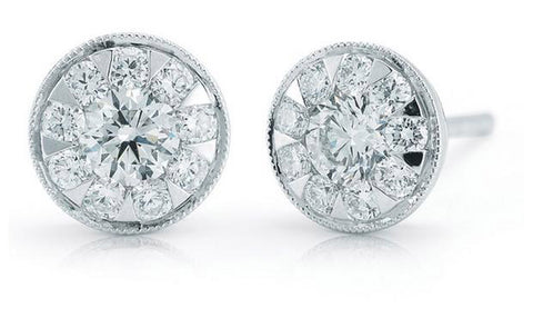 Kwiat diamond studs in 18K white gold