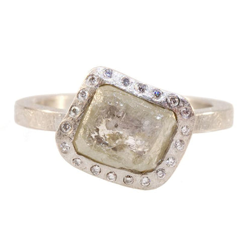 Todd Reed rough diamond palladium ring
