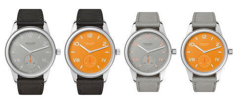 4 watches on white background