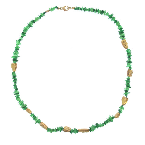 Alex Sepkus rose gold and tsavorite beaded necklace