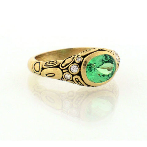 Alex Sepkus green garnet ring