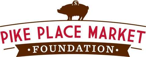 Pike Place Market logo with pig on top