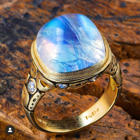 Alex Sepkus Moonstone Ring