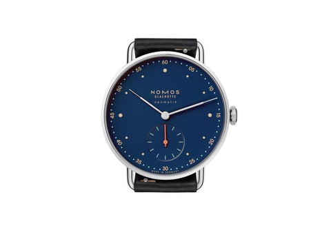 Nomos blue dial watch