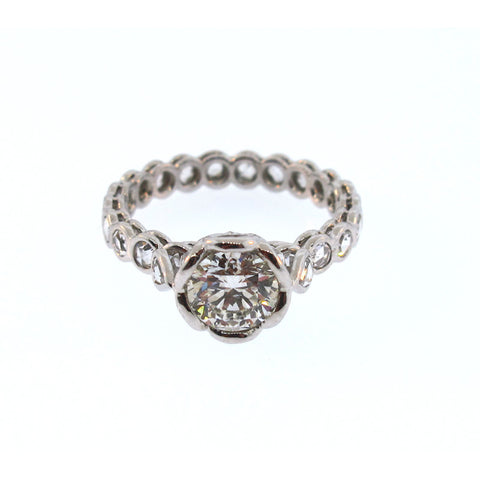 John Apel Diamond and Platinum Ring