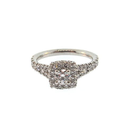 Hearts on Fire Acclaim Diamond and 18K White Gold Ring