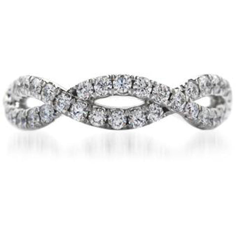 Hearts on Fire Diamond and 18K White Gold Envelop Eternity Band